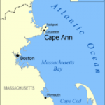 Map of Cape Anne, great mountain biking, beaches, and sake