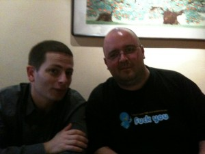 Adam Eisner (left) of Tucows and Michele Neylon of Blacknight Solutions