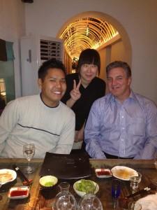 """Peter Do, """"Porsche"""", and Bob Mtn at Sake Manzo"""